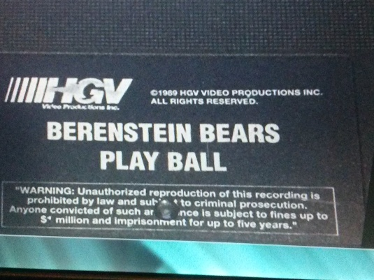 The video cassette shows what WAS the spelling of the Berenstein Bears
