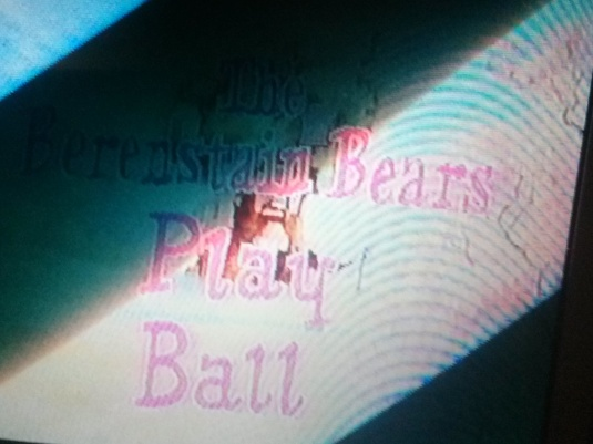 When the video tape is played, the film has changed, on the shelf, to show BerenstAIn Bears. This is the earliest known effect.